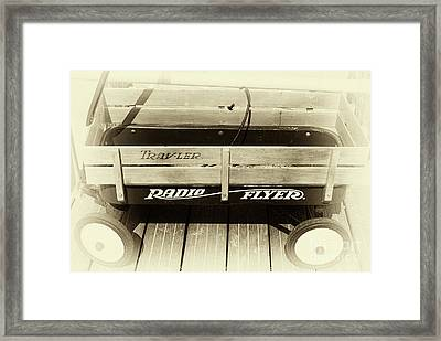 Radio Flyer On The Boardwalk Framed Print by John Rizzuto