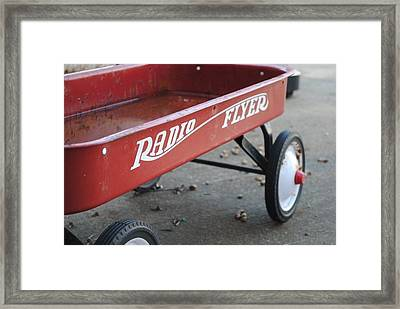 Radio Flyer Framed Print by Rachel Bazarow