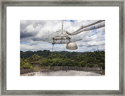 Framed Print featuring the photograph Radio Telescope At Arecibo Observatory In Puerto Rico by Bryan Mullennix