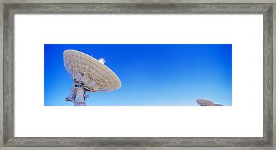 Radio Telescope Satellite Dishes Framed Print by Panoramic Images
