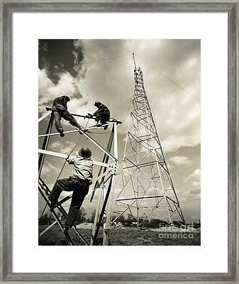 Radio Tower Framed Print