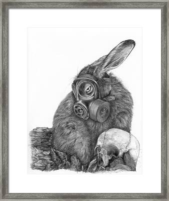 Radioactive Black And White Framed Print by Penny Collins