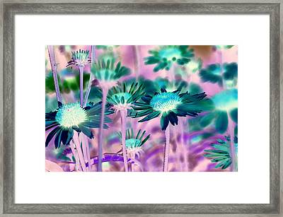 Radioactive Bouquet Framed Print
