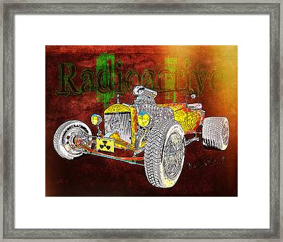 Radioactive Rod Framed Print