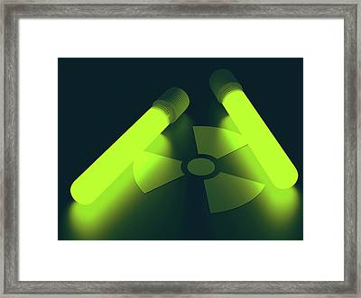 Radioactive Symbol Framed Print by Ktsdesign