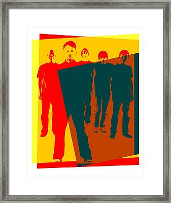 Radiohead Pop Art Poster Framed Print by Dan Sproul