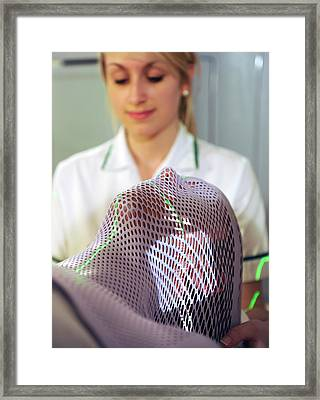 Radiotherapy Mask Framed Print by Public Health England