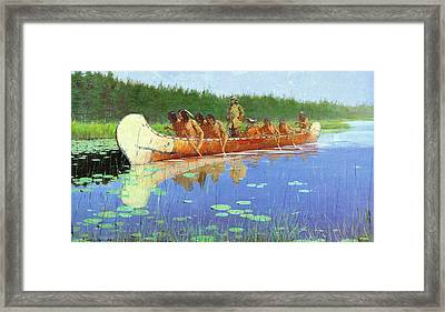 Radisson And Groseilliers Framed Print by Fredrick Remington