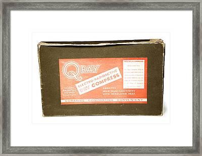 Radium Compress Framed Print by Public Health England