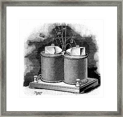 Radium Decay Framed Print by Universal History Archive/uig