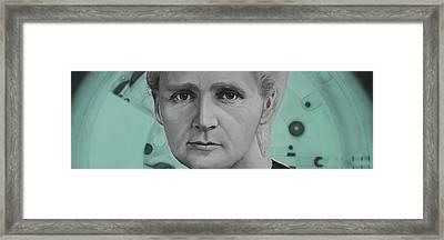 Radium- Marie Curie Framed Print by Simon Kregar