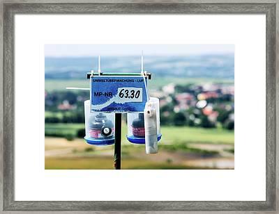 Radon Monitoring Equipment Framed Print