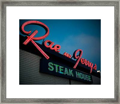 Rae And Jerry's Framed Print