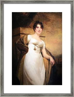 Raeburn's Mrs. Vere Of Stonebyres Framed Print