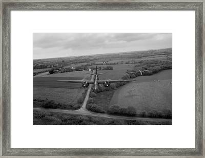 Raf Bostons On Low-level Strike Black And White Version Framed Print by Gary Eason
