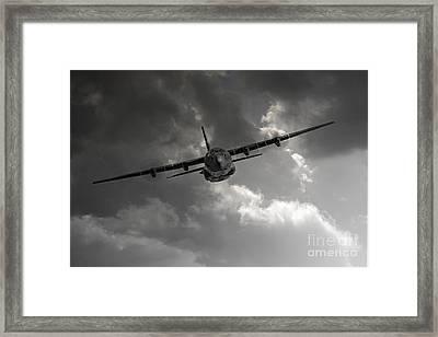 Raf C-130 Transport Framed Print by J Biggadike