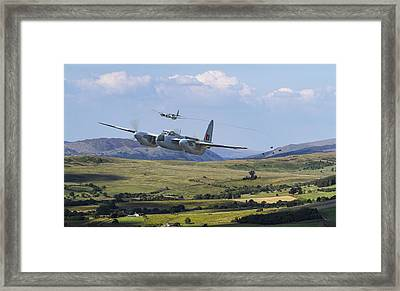 Raf Mosquito - Train Buster Framed Print by Pat Speirs