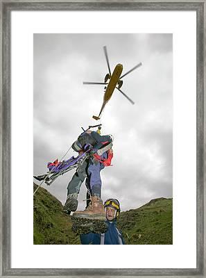 Raf Sea King Helicopter Framed Print