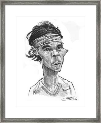 Rafa Nadal Framed Print