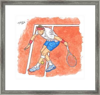 Rafa On Clay Framed Print by Steven White