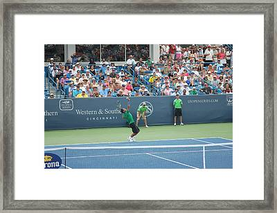 Rafa Serving Framed Print by Rexford L Powell