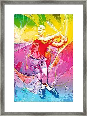 Rafael Nadal 01 Framed Print by RochVanh