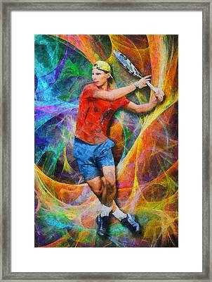 Rafael Nadal 02 Framed Print by RochVanh