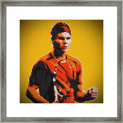 Rafael Nadal 2 Lego Digital Painting Framed Print