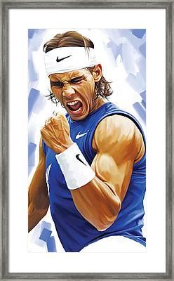 Rafael Nadal Artwork Framed Print