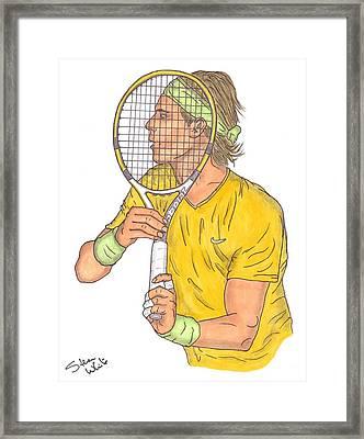Rafael Nadal Framed Print by Steven White