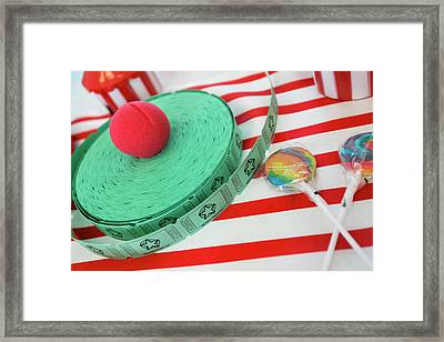 Raffle Tickets At A Child's Themed Framed Print by Julien Mcroberts