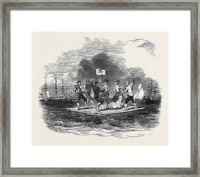 Raft Dance At The Squadron Regatta, Cork Framed Print