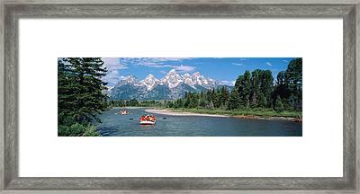Rafters Grand Teton National Park Wy Usa Framed Print