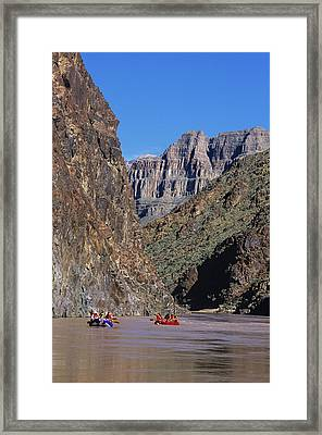 Rafters On Lower Grand Canyon Framed Print