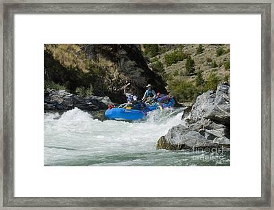 Rafters Running Tappan Falls Framed Print