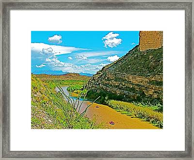 Rafting In Santa Elena Canyon In Big Bend National Park-texas Framed Print by Ruth Hager