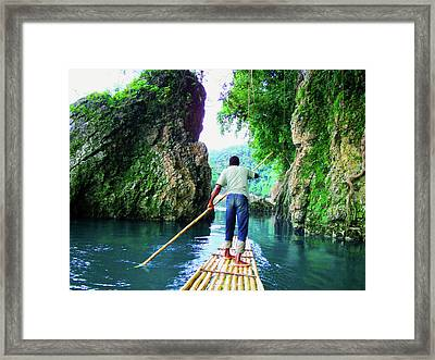 Rafting On The Rio Grande Framed Print by Carey Chen