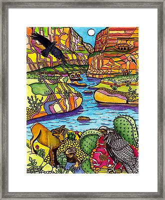 Rafting The Grand Canyon Framed Print by Judy Moon