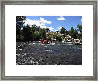 Rafting The River Framed Print by Steven Parker