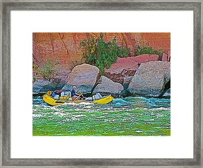 Rafting Through Pariah Riffle Near Lee's Ferry In Glen Canyon National Recreation Area-arizona  Framed Print
