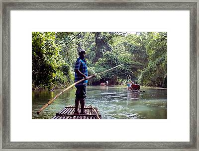 Punter Checking On His Fares Framed Print