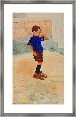 Forenza Vita Ragazzo In Via Salita Trappeto Framed Print