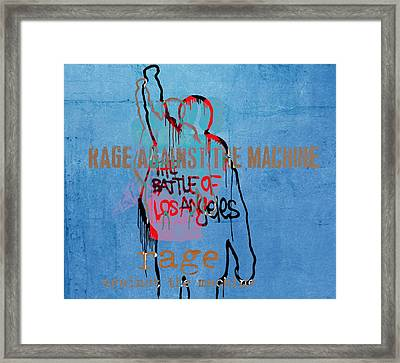 Rage Against The Machine Framed Print by Dan Sproul