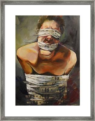 Rage Framed Print by Alexandra  Perrier