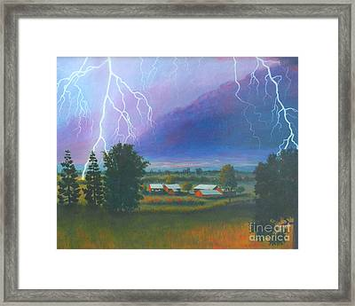 Rage And Beauty Framed Print