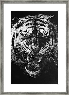 Rage Framed Print by Barbara Keith