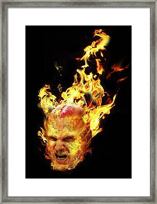 Rage, Conceptual Composite Image Framed Print by Science Photo Library