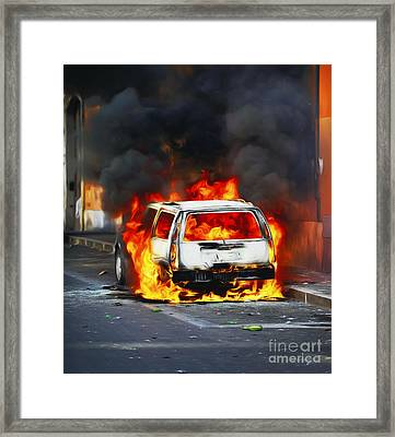 Rage In The Street Framed Print by Stefano Senise