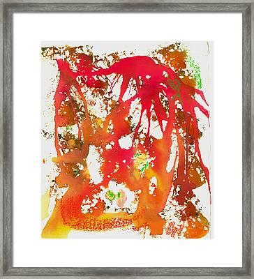 Rage Framed Print