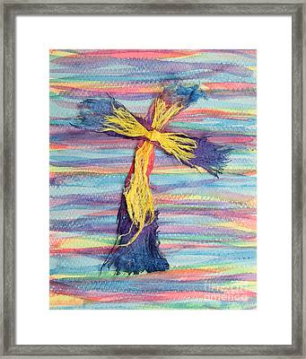Ragged Cross Framed Print